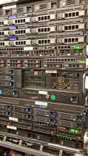 SilverServers rack at the Canshield Data Centre on Lorne Street