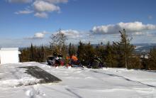 Fine snowmobiles provided by Simon, VE7RIZ  Thank you!